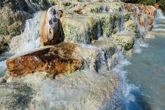 Natural spa Saturnia θερμικά λουτρά, Ιταλία Στοκ Εικόνα