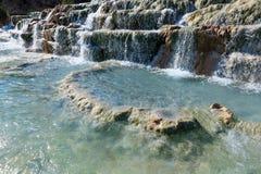 Natural spa Saturnia θερμικά λουτρά, Ιταλία Στοκ φωτογραφίες με δικαίωμα ελεύθερης χρήσης
