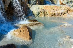 Natural spa Saturnia θερμικά λουτρά, Ιταλία Στοκ Εικόνες