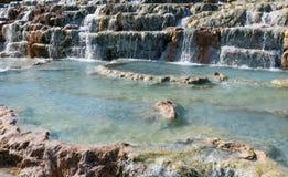 Natural spa Saturnia θερμικά λουτρά, Ιταλία Στοκ εικόνες με δικαίωμα ελεύθερης χρήσης