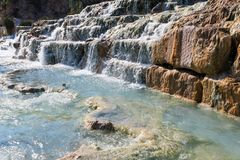 Natural spa Saturnia θερμικά λουτρά, Ιταλία Στοκ φωτογραφία με δικαίωμα ελεύθερης χρήσης