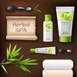 Natural spa schoonheidsmiddelen Stock Fotografie