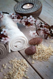 Natural spa setting Royalty Free Stock Photography