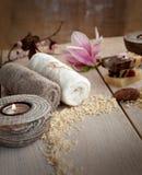 Natural spa setting Stock Photos