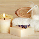 Natural Spa Skincare Producten Stock Afbeelding