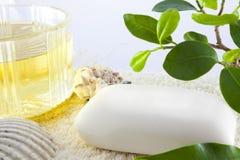 Natural spa soap Royalty Free Stock Photo