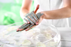 Natural spa treatments for hands Royalty Free Stock Photography