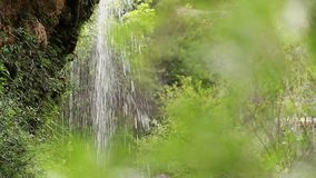Natural space with waterfalls called the Batán stock video footage