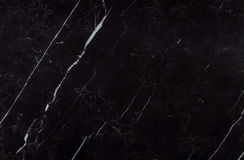 Natural spanish Nero Marquina black marble texture Stock Photo