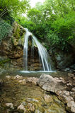 Natural Spring Waterfall Stock Photo