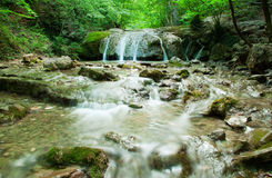 Natural Spring Waterfall Stock Photography