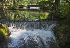 Natural Spring Waterfall Stock Image