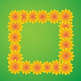 Natural square with flowers Stock Photo