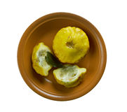 Natural squash pattypan Royalty Free Stock Photo