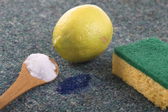 Natural stain remover with lemon and sodium bicarbonate Stock Image