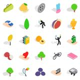 Natural stamina icons set, isometric style. Natural stamina icons set. Isometric set of 25 natural stamina vector icons for web isolated on white background Royalty Free Stock Photos