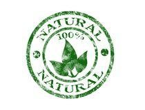 Natural stamp. 100 natural grunge rubber stamp Royalty Free Stock Photo