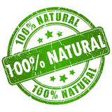 Natural stamp Royalty Free Stock Photo