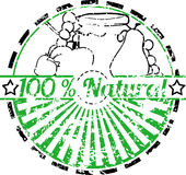 100% Natural Stamp Royalty Free Stock Photo