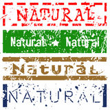 Natural Stamp Set Royalty Free Stock Image