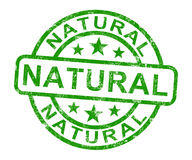 Natural Stamp Shows Pure Genuine Product Stock Images