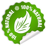 Natural sticker. Natural eco sticker over white Stock Photos