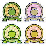 Natural sticker Royalty Free Stock Images