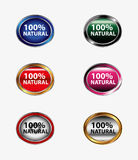 100% natural stickers tag. 