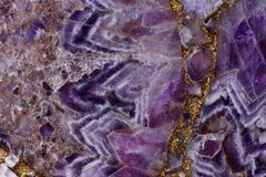 Natural stone Amethyst purple color with an interesting pattern