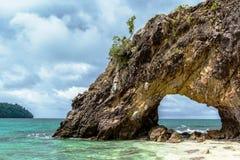 Natural stone arch with beautiful beach at Kho Khai near Tarutao. National park and Koh Lipe in Satun, Andaman Sea, Thailand Stock Photos