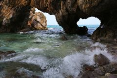 Natural Stone Arch, Khai island, Satun, Thailand Stock Image