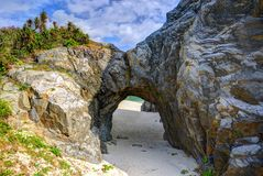 Natural stone arch Stock Images