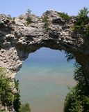 Natural stone archway. On an island Royalty Free Stock Photo