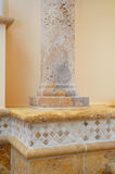 Natural stone bathroom details Royalty Free Stock Images