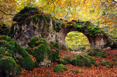 Natural stone bridge Stock Image