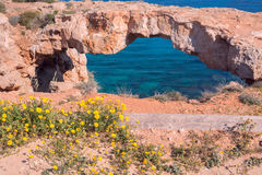 Natural stone bridge over the sea Royalty Free Stock Photo