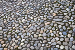 Natural stone cobbled paving Royalty Free Stock Photography