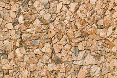 Natural stone facade. Wall of a building finished with natural stone Royalty Free Stock Images