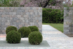 Natural stone in the garden Stock Photography