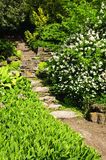 Natural stone garden steps Royalty Free Stock Photo