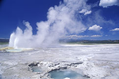 Natural Stone and Geysers Stock Images