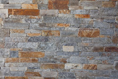 Natural stone granite brick wall pattern background, contemporar Royalty Free Stock Photo