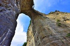 Natural stone hole Royalty Free Stock Photo