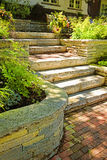 Natural stone landscaping Stock Photos
