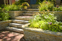 Natural stone landscaping Royalty Free Stock Photo