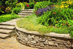 Natural stone landscaping Royalty Free Stock Photography