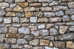 Natural stone for masonry walls. The use of natural stone for masonry walls Stock Photos