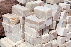 Natural stone onyx Stock Photos