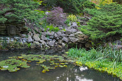Natural stone pond Royalty Free Stock Photo