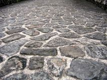Natural Stone Road. Made from irregular slabs Stock Photography